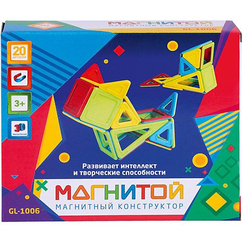 """Магнитный конструктор """"Магнитой"""", 20 деталей (непрозрачный материал) от Магнитой"""