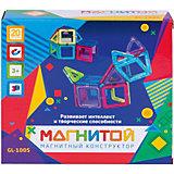 """Магнитный конструктор """"Магнитой"""", 12 квадратов, 8 треугольников (8 - с окном)"""