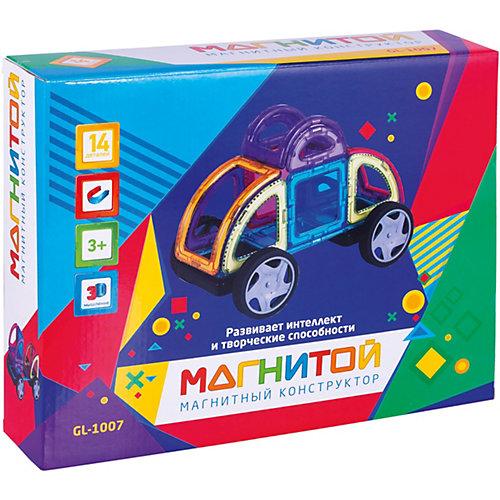 """Магнитный конструктор """"Магнитой"""", Машинка, 14 деталей от Магнитой"""