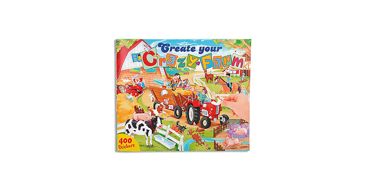 Buch - Create your Crazy Farm Malbuch mit Stickern