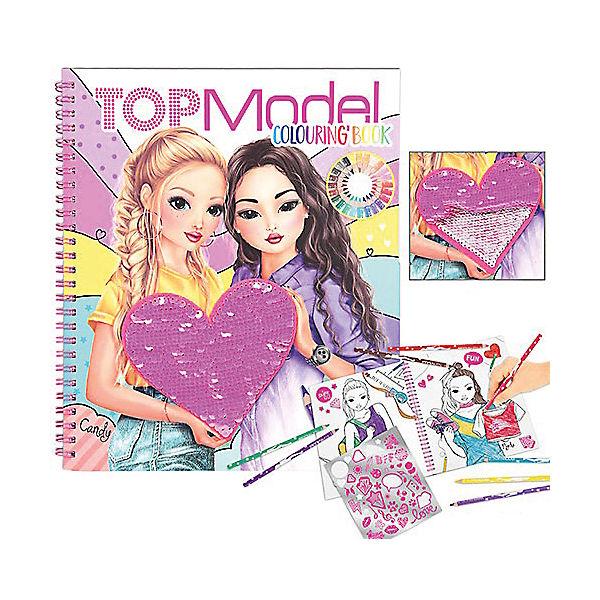 Topmodel Malbuch Mit Pailletten Topmodel Mytoys