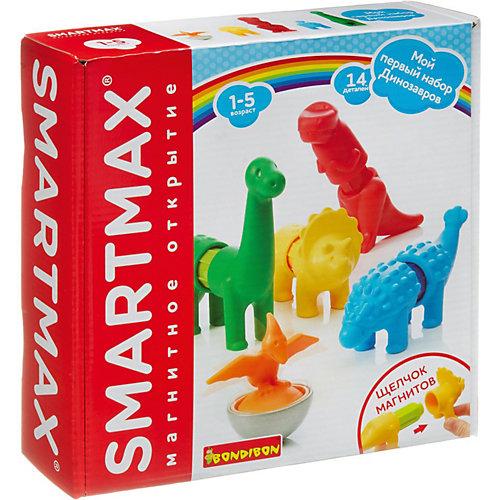 """Магнитный конструктор  Bondibon SmartMax """"Мой первый набор динозавров"""", 14 деталей от Bondibon"""