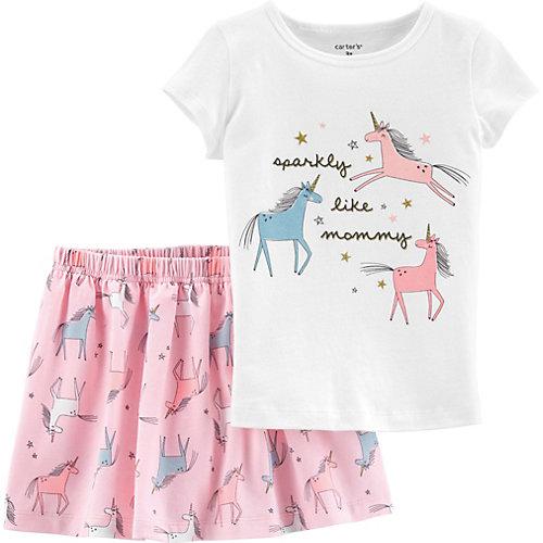 Комплект carter`s: футболка и юбка - бежевый от carter`s