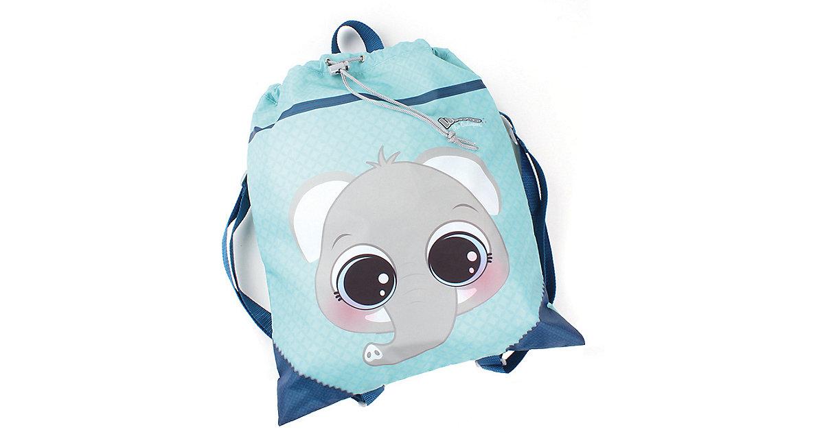 Lulupop Sportbeutel Elefant blau-kombi