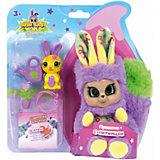 """Интерактивная игрушка Bush baby world """"Пушастик"""" 14 см, фиолетовый"""