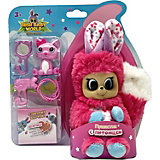 "Интерактивная игрушка Bush baby world ""Пушастик"",14 см, розовый"