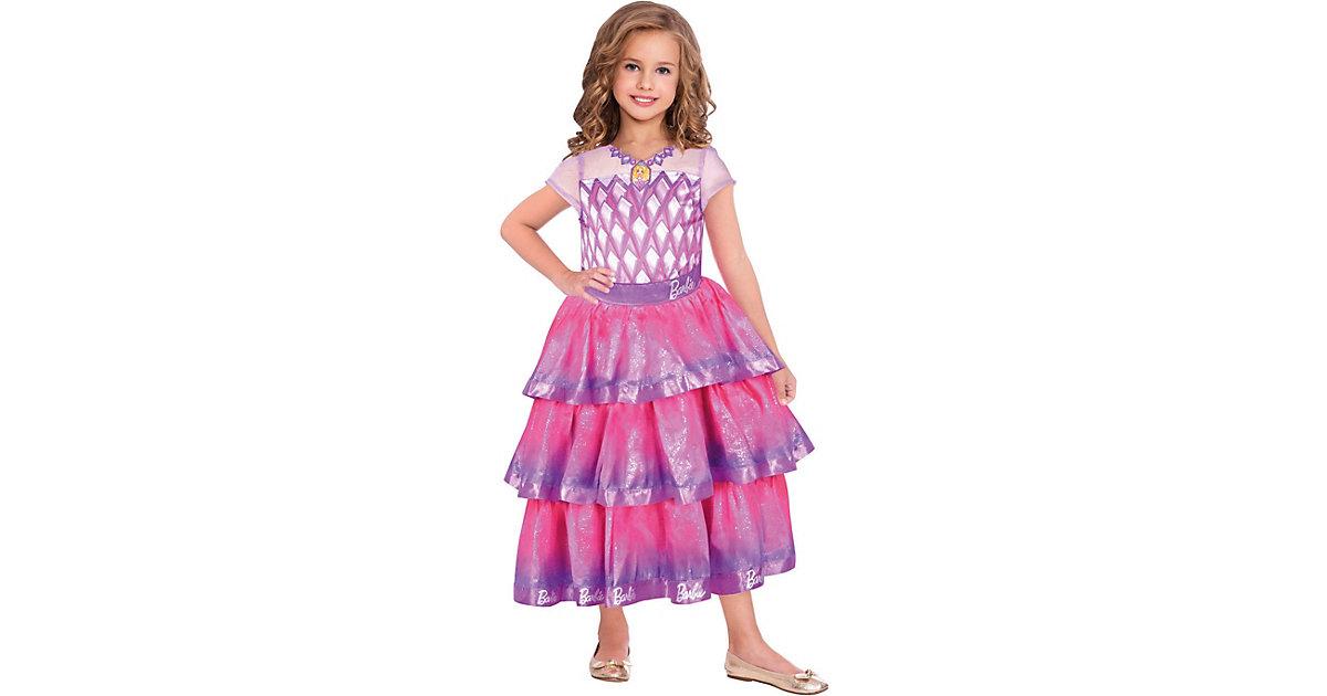Kostüm Barbie Edelstein Ballkleid, 1-tlg. pink Gr. 104/110 Mädchen Kleinkinder