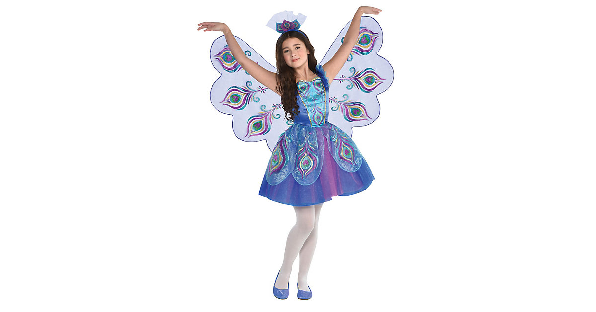 Kostüm Pretty Peacock, 2-tlg. lila Gr. 98/110 Mädchen Kleinkinder