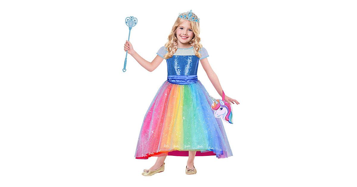 Kostüm Barbie Luxus Regenbogenbucht, 1-tlg. bunt Gr. 128/140 Mädchen Kinder