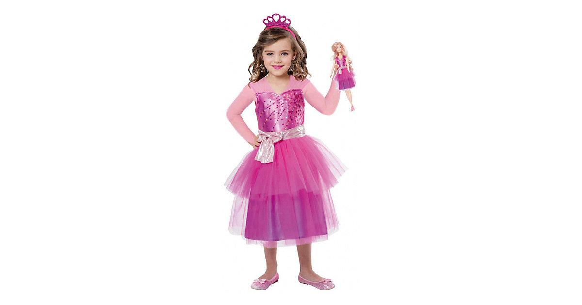 Kostüm Barbie Princess & Mini Me, 3-tlg. pink Gr. 116/128 Mädchen Kinder