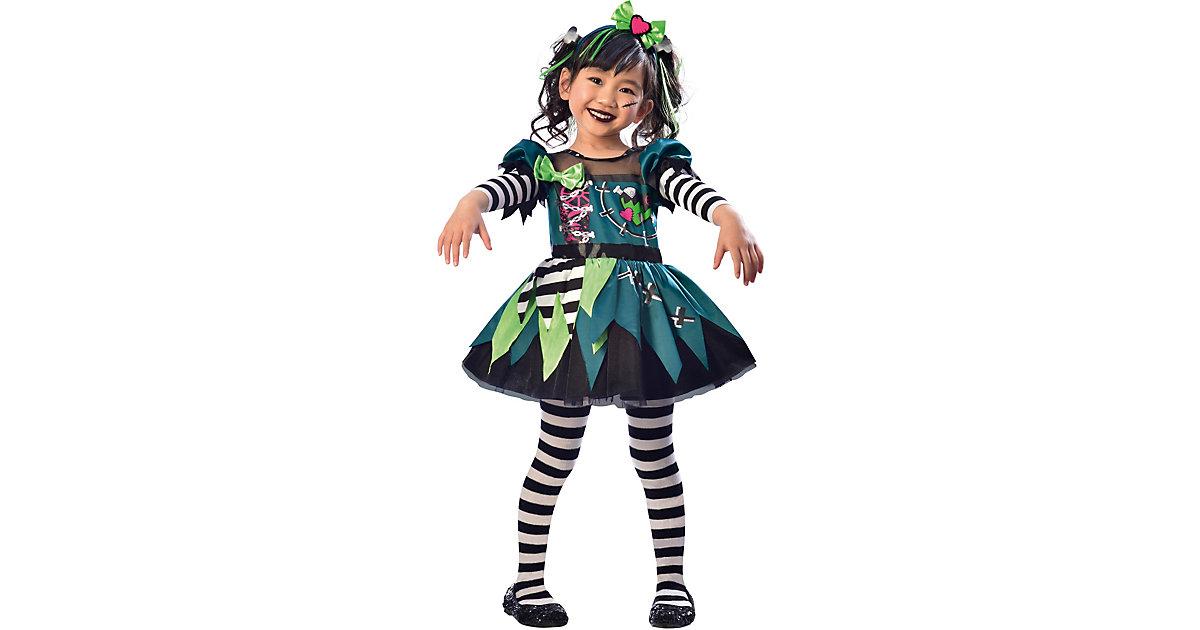 Kostüm Kleines Fräulein Frankenstein, 2-tlg. mehrfarbig Gr. 104/116 Mädchen Kinder