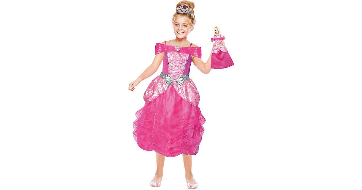 Kostüm Barbie Herzprinzessin & Mini Me, 2-tlg. pink/rosa Gr. 110/122 Mädchen Kinder