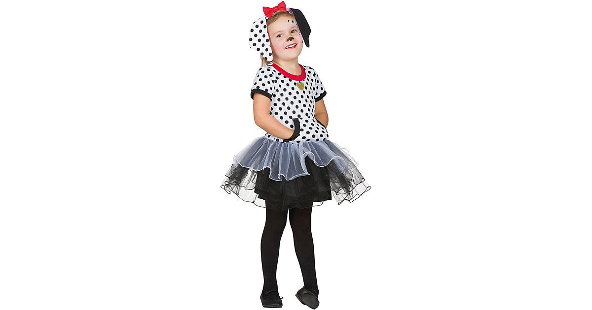 Kostüm Dalmatiner Gr. 104 schwarz/weiß Mädchen Kleinkinder