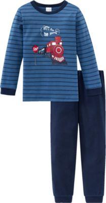 Schiesser Jungen Zug Kn Anzug Lang Zweiteiliger Schlafanzug
