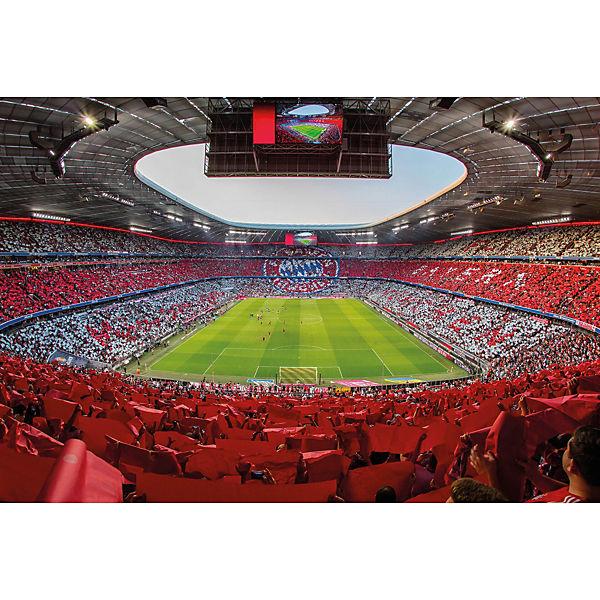 Fototapete FCB Stadion Rot Weiß, Fußballverein FC Bayern München