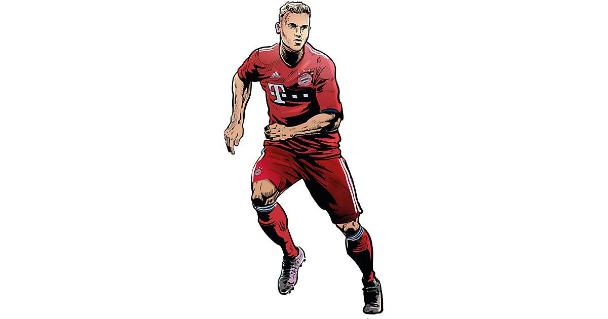 Wandsticker FC Bayern Comic Spieler Joshua Kimmich mehrfarbig | Dekoration > Wandtattoos > Wandtattoos
