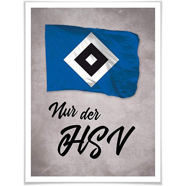 Poster Nur Der Hsv 02 Fussballverein Hamburger Sv Mytoys