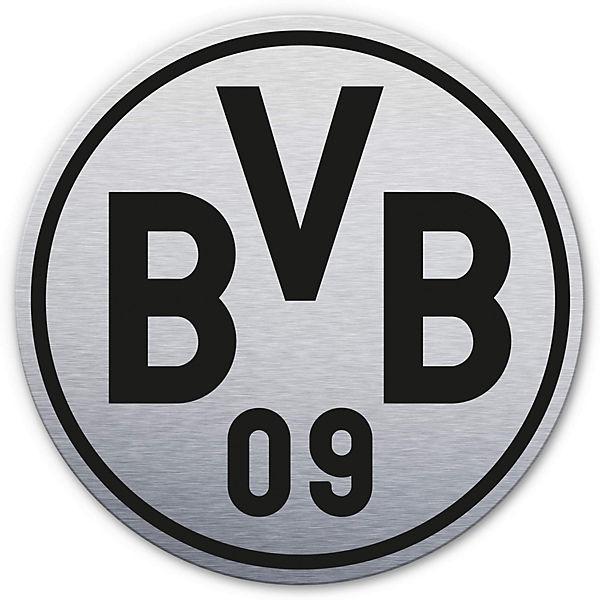 Alu Dibond Mit Silbereffekt Bvb Logo Fussballverein Borussia Dortmund Mytoys