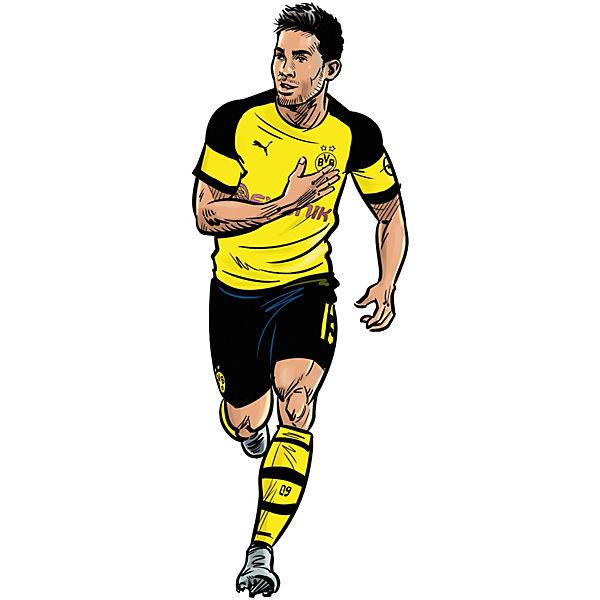 Wandsticker Bvb Comic Spieler Raphael Guerreiro Fussballverein Borussia Dortmund