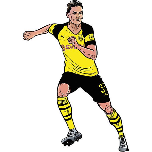Wandsticker Bvb Comic Spieler Julian Weigl Fussballverein Borussia Dortmund