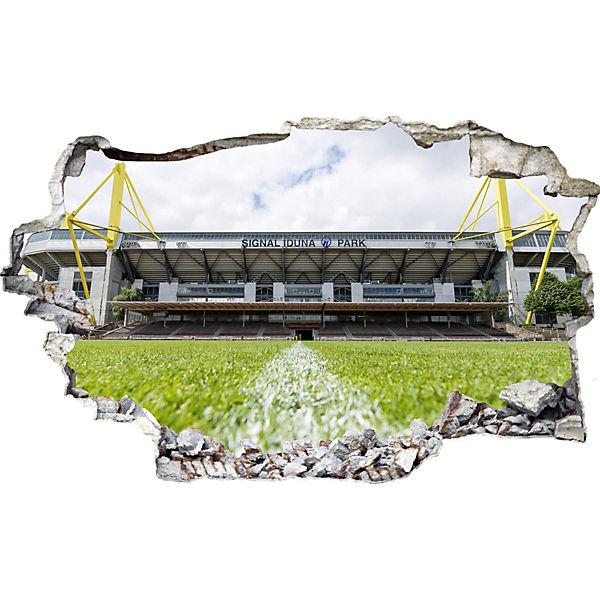 3d Wandtattoo Bvb Signal Iduna Park Bei Tag Fussballverein Borussia Dortmund