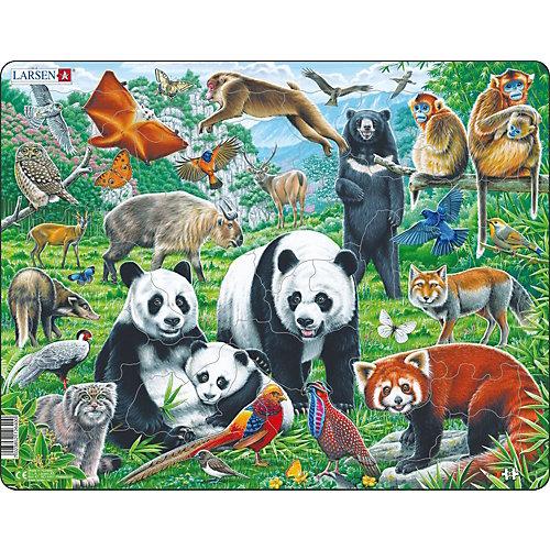"""Пазл Larsen """"Дикие животные Азии"""", 56 деталей от Larsen"""