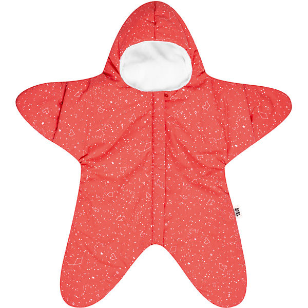 Winter-Schlafsack Star, coral, 81x74 cm