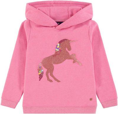 Sweatshirt mit Kapuze für Mädchen, Herzen, Sanetta Kidswear