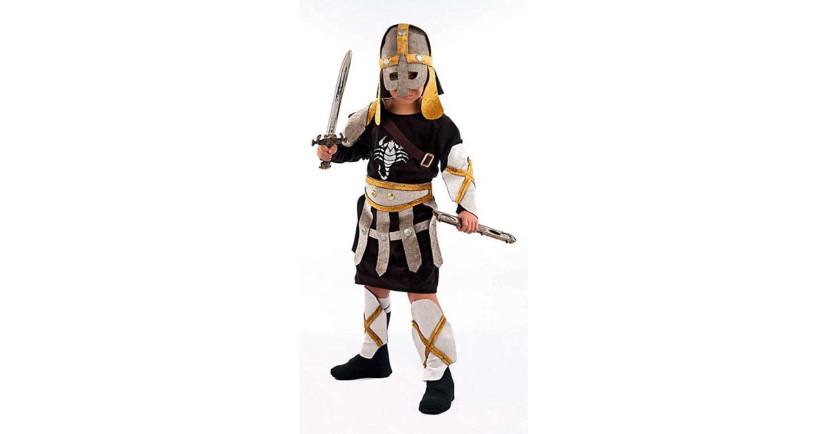 Kostüm Gladiator, 5-tlg. gold/silber Gr. 128/140 Jungen Kinder