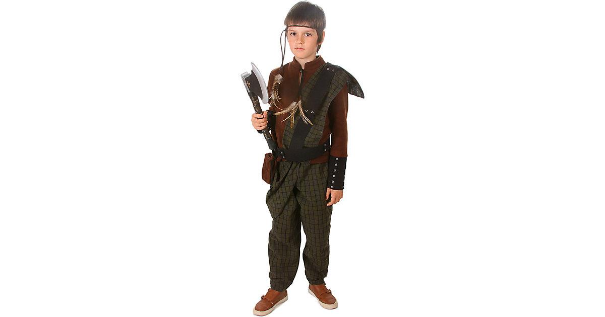Kostüm Wikinger, 2-tlg. braun/grün Gr. 116/128 Jungen Kinder