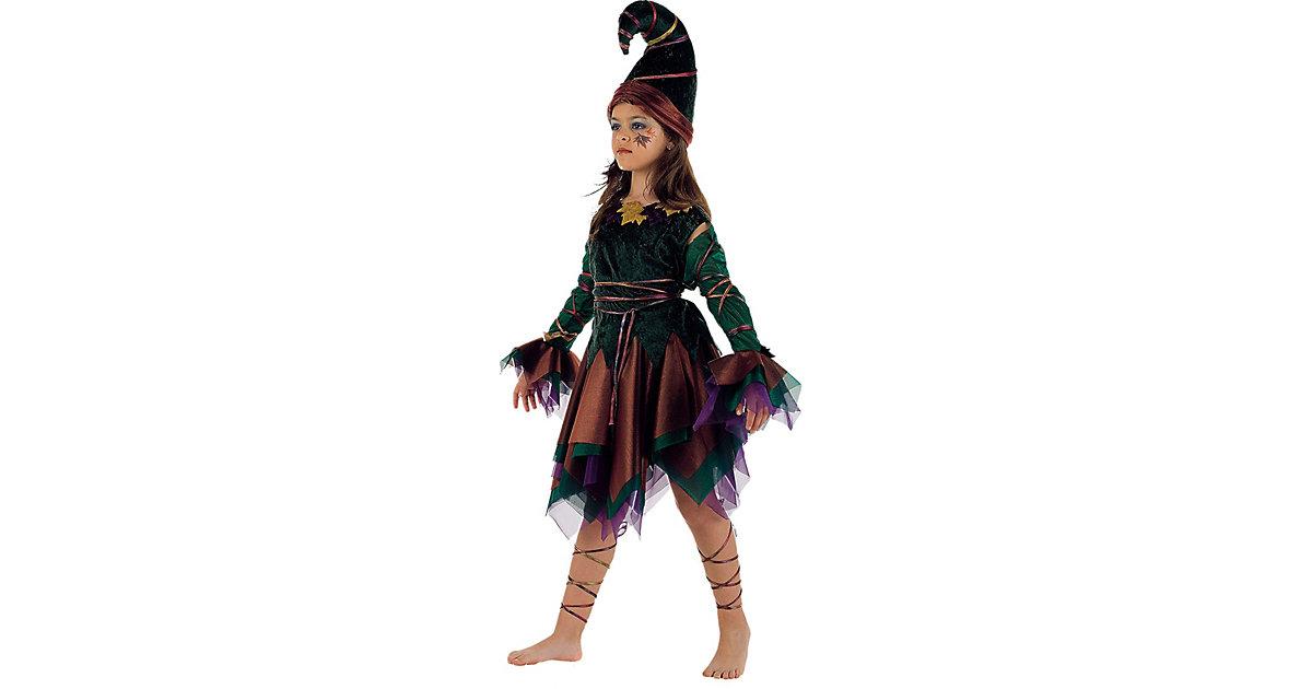 Kostüm Elfe, 4-tlg. schwarz/grün Gr. 140/152 Mädchen Kinder