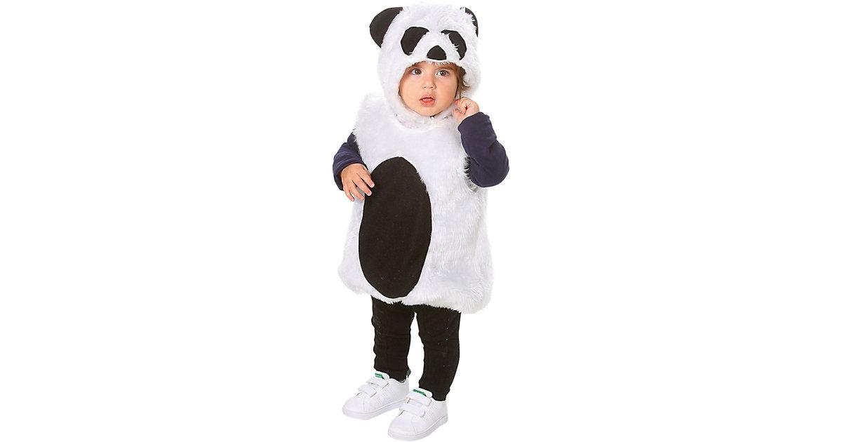 Kostüm Pandabär, 2-tlg. schwarz/weiß Gr. 86/104 Jungen Kleinkinder