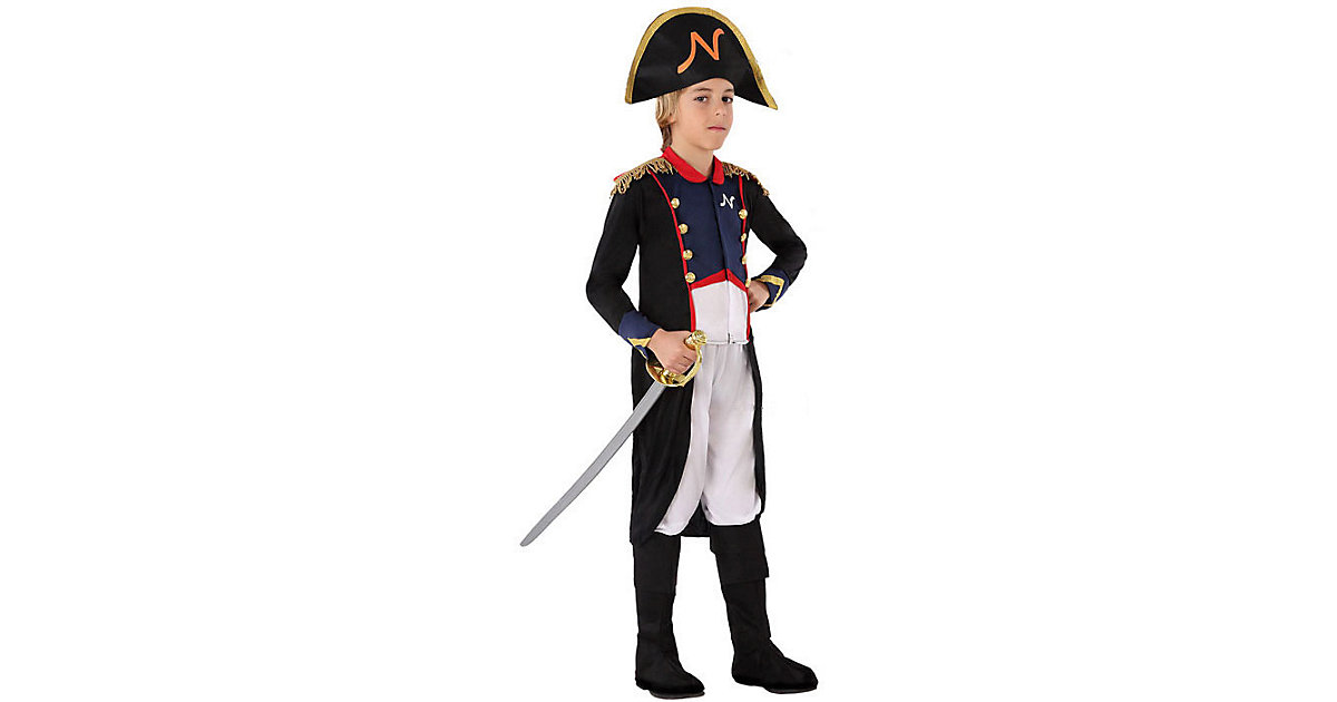 Kostüm Napoleon dunkelblau Gr. 110/122 Jungen Kinder
