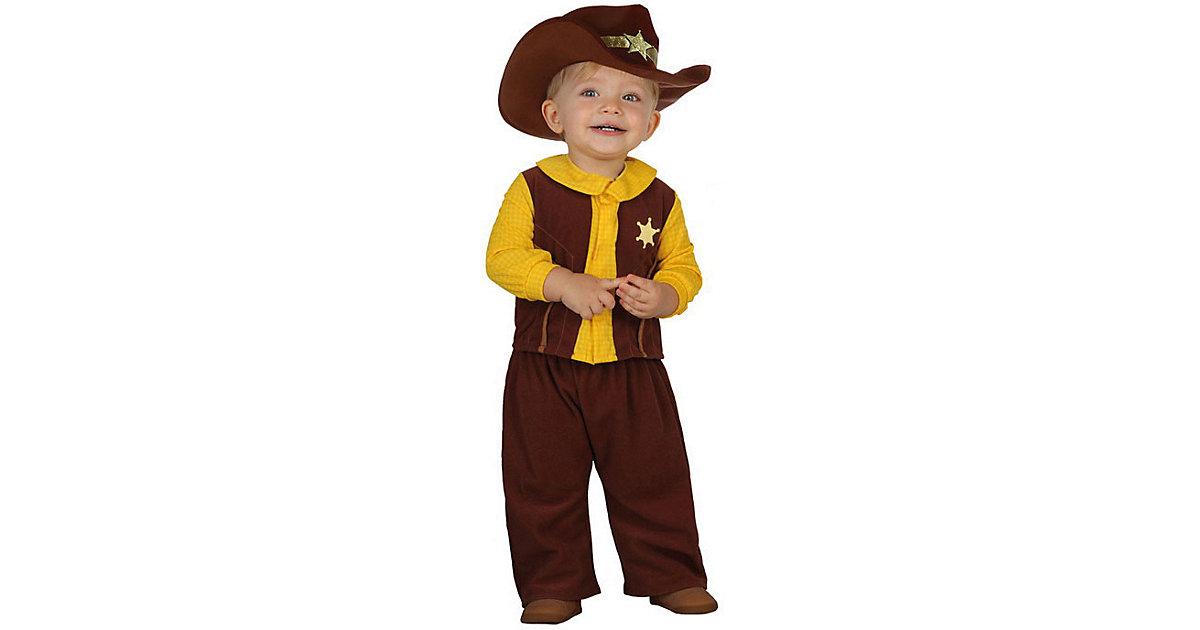 Kostüm Cowboy braun Gr. 92/98 Jungen Kleinkinder