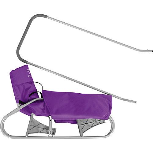 Складные санки Дэми, серо-фиолетовые от Дэми