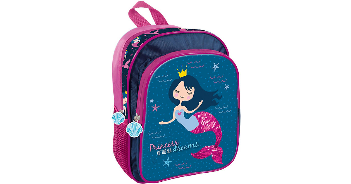 DER FORM Kinderrucksack Mermaid blau/rot