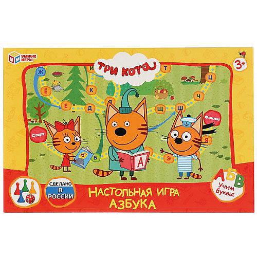 Настольная игра-ходилка Умные игры Азбука, три кота от Умка