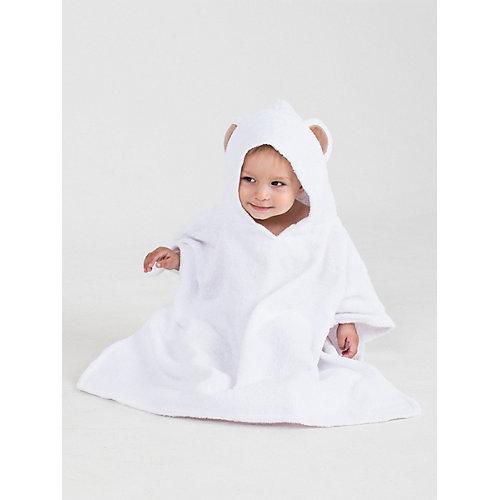 Полотенце с капюшоном BabyBunny, размер М - белый от BabyBunny