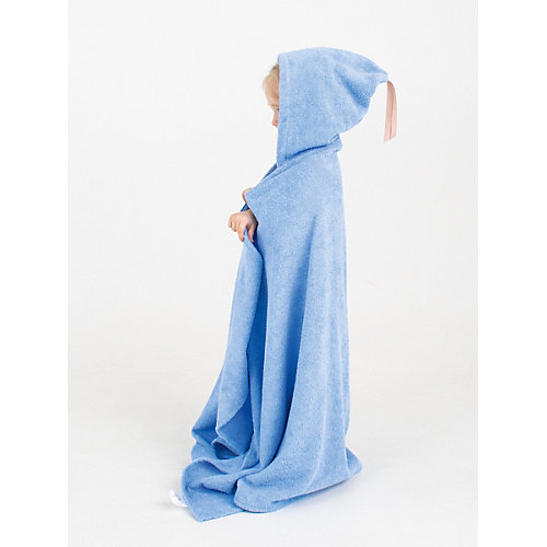 Полотенце с капюшоном BabyBunny, размер L - голубой от BabyBunny
