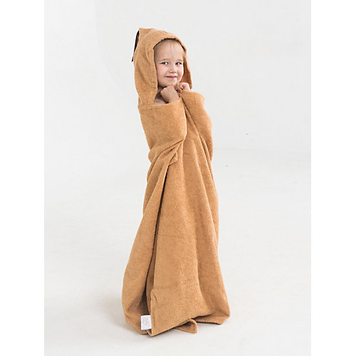 Полотенце с капюшоном BabyBunny, размер L - бежевый от BabyBunny