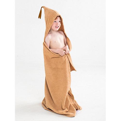 Полотенце с капюшоном BabyBunny, размер М - бежевый от BabyBunny