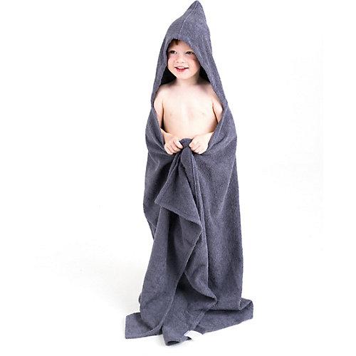 Полотенце с капюшоном BabyBunny, размер L - серый от BabyBunny