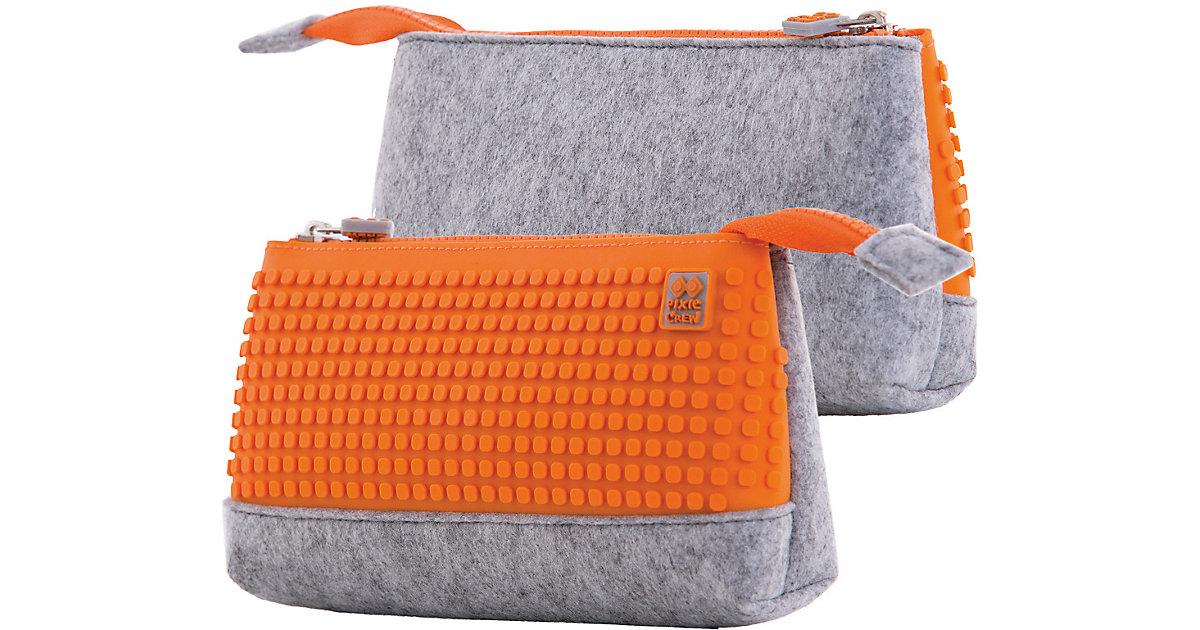 Pixie Crew: Schlampermäppchen, grau/orange