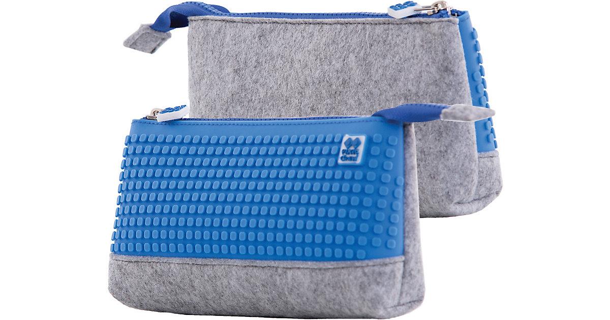 Pixie Crew: Schlampermäppchen, grau/blau blau/grau