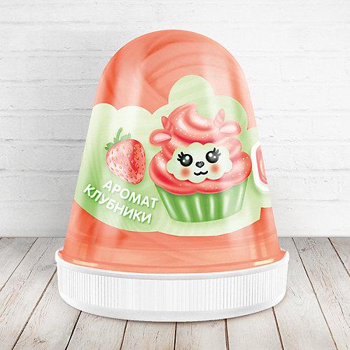 Слайм Monster Slime Fluffy Клубника красный, 120 мл от KiKi