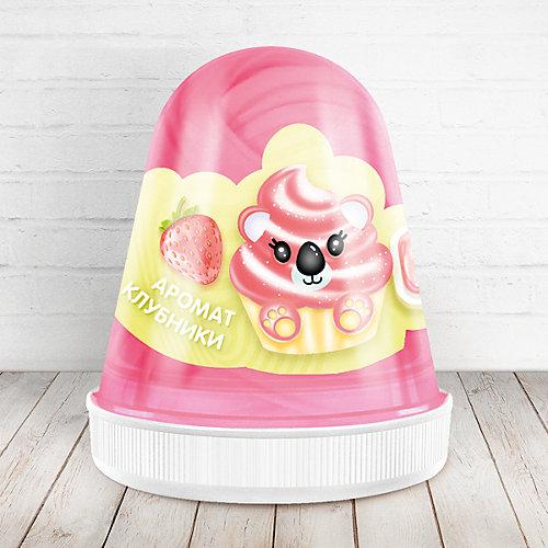 Слайм Monster Slime Fluffy Клубника розовый, 120 мл от KiKi