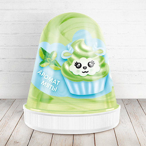 Слайм Monster Slime Fluffy Мята зелёный, 120 мл от KiKi