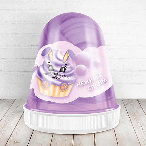Слайм Monster Slime Fluffy Бабл-Гам фиолетовый, 120 мл от KiKi
