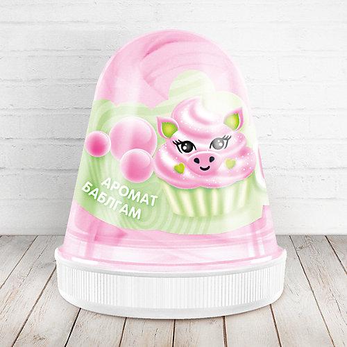 Слайм Monster Slime Fluffy Бабл-Гам розовый, 120 мл от KiKi