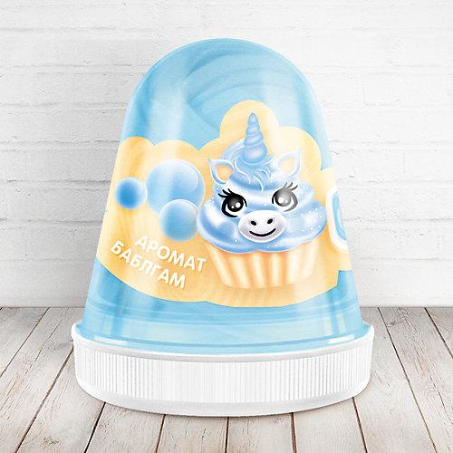 Слайм Monster Slime Fluffy Бабл-Гам голубой, 120 мл от KiKi